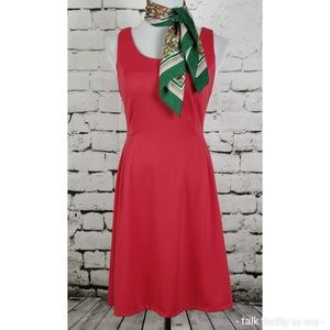 MERONA | Fit and Flare Dress w/Vtg Scarf Small
